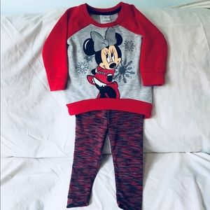 Disney Minnie Mouse sweatshirt and pants